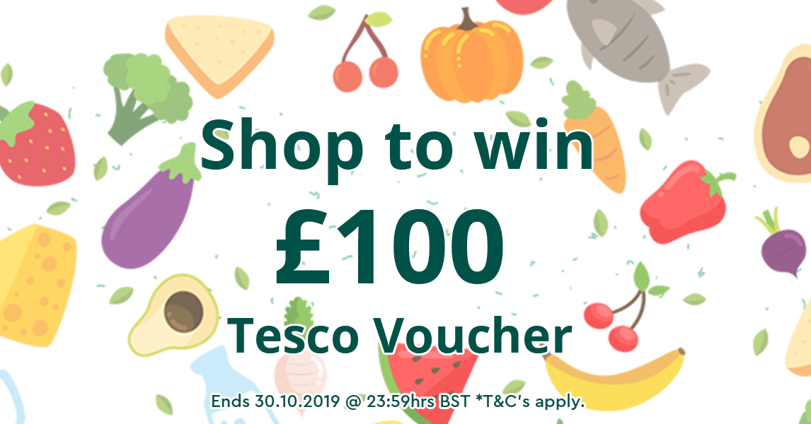 Chance to win £100 Tesco Voucher