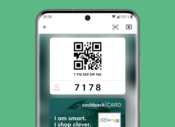 Your digital Cashback Card