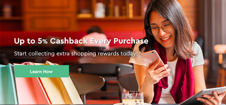 5% Cashback Every Purchase